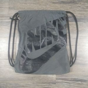 Nike Heritage Backpack Bag Drawstring Sack Gray
